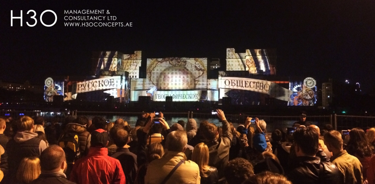 "Moscow International Light Festival 2015 - 3D mapping content production - The ""Time Cabinet"""