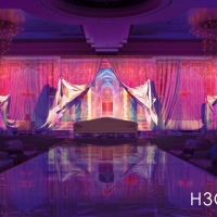 3D mapping projection for weddings